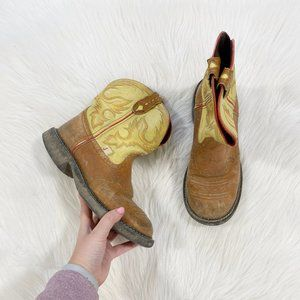 JUSTIN BOOTS Gypsy Tan Yellow Cowgirl Boots SZ 8.5